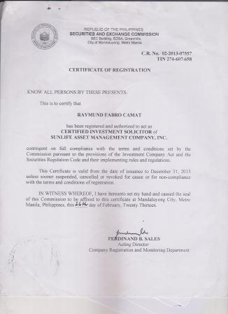 Raymund Camat SEC Certification2